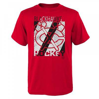 Outerstuff NHL Chicago Blackhawks Carbon Crafted Youth T-Shirt