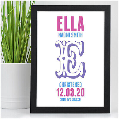 Personalised Christening Print Gifts for Baby Girl Goddaughter New Baby Girls
