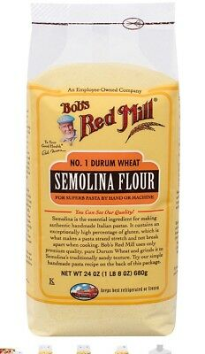 Bobs Red Mill Semolina Pasta Flour, 24 Ounce Pack Of 3