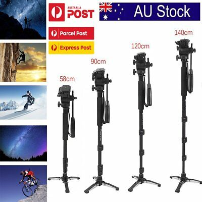WF Extendable Monopod Tripod Unipod Fluid Head Holder Alloy DSLR Camcorder Video