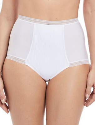 Fantasie Fusion High Waist Brief, Knickers, Panties FL3098 White Various Sizes