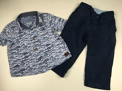 """🚗 Baby Boys Designer """"monsoon"""" Smart Outfit, Age 6-12 Mths, Vgc 🚗"""