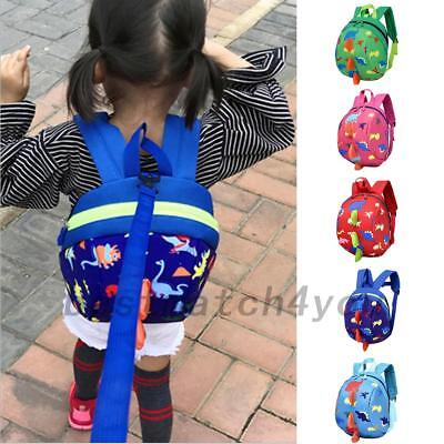 Baby Toddler Kids Dinosaur Safety Harness Strap Bag Backpack With Reins Bags