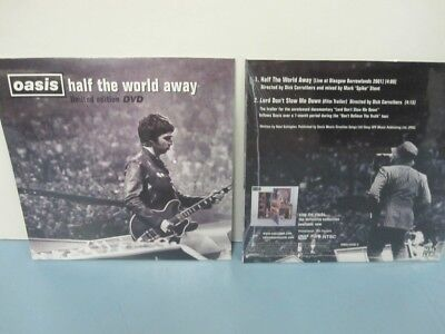 OASIS 2005 Half The World Away Promo Ltd.Ed. 2 Track DVD NEW old stock Sealed