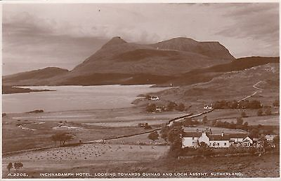Postcard - Assynt - Inchnadamph Hotel looking towards Quinag and Loch Assynt