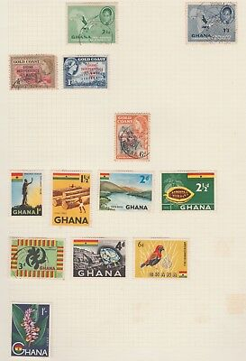 GHANA Collection Timber Volta Cocoa Diamond Ginger MH USED as per scan #