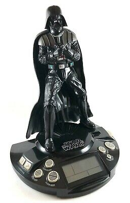 Star Wars Darth Vader 2011 Alarm Clock Radio - Sounds - Lights Up
