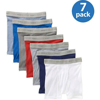 Hanes Boys Exposed Waistband Boxer Briefs, 7 Pack