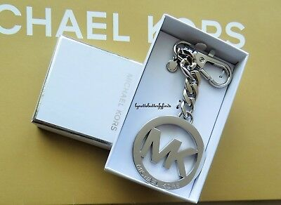 Michael Kors Logo Key Charm Silver in Gift Box NWT