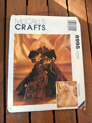 Oop McCalls Crafts 8995 Christmas Angel Tree Topper NEW