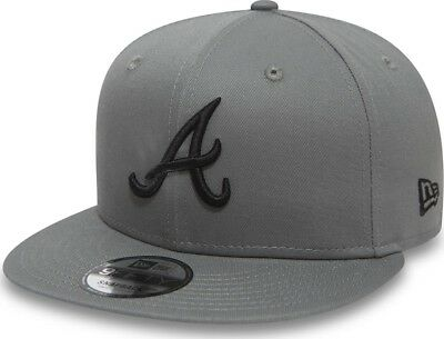 New Era Atlanta Braves MLB Liga Essential Gris Piedra Gorra Snapback 9fifty  M L c7017bc9d0e