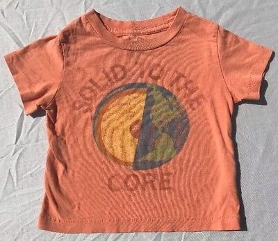 Peek Little Peanut T Shirt Solid To The Core Size 6-12 Months