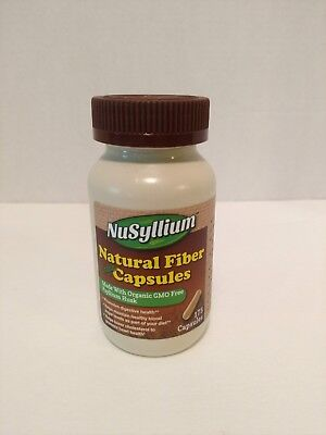 NuSyllium Natural Fiber Vegan Capsules 175 Count Expires at Least 7/2019