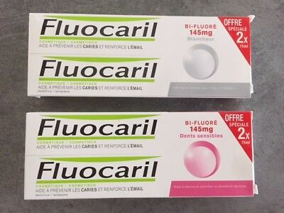 Fluocaril 4 Dentifrices Dents Sensibles + Fraicheur
