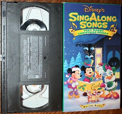 disney sing along songs very merry christmas songs vhs vg cond - Mickey Mouse Christmas Songs