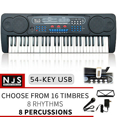 Full Size Keyboard 61 Key Digital Electronic Piano Kit + Stand Stool Headphones