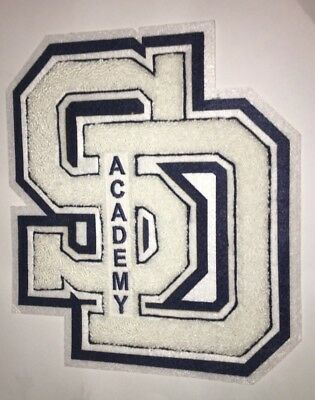 "New 8"" Varsity CHENILLE LETTER PATCH LETTERMAN JACKET SAN DIEGO Academy School"