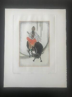Dan Mitra - Taotist Philospher Hand Colored Engraving Signed and numbered *L@@K*