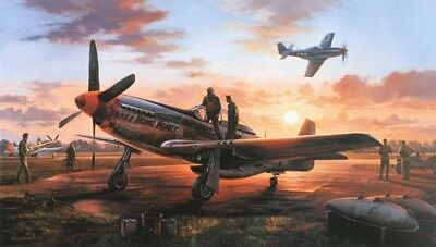 Last Man Home by Nicolas Trudgian - signed by 357th Fighter Group Aces