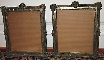 Vintage Pr. ART DECO Hollywood Regency FRENCH Style MIRRORED Frames c1920s