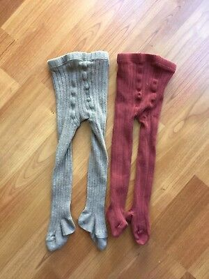 Magnolia Kids Baby Tights Lot Of Two Size O