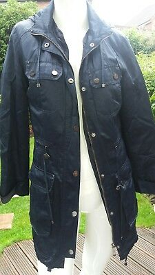 M&s Autograph Weekend Navy Coat Size 8 Cost £65.