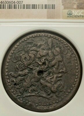 Ptolemaic Kingdom, Ptolemy IV. AE42 Huge Ancient Coin NGC XF 4/2 🚩 ZEUS