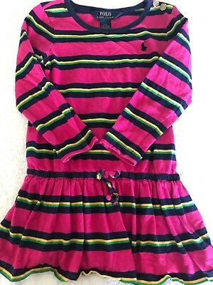 POLO RALPH LAUREN Girls Long Sleeve Cotton Dress Size 3 T