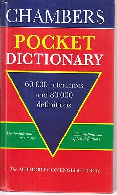 Chambers Pocket Dictionary, ,60000 REFERENCES AND 80000 DEFINITIONS