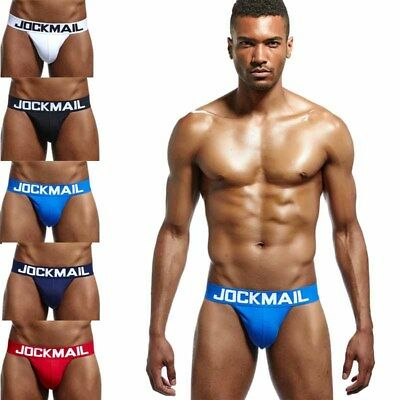 JOCKMAIL Mens Cotton High Cut Brief Underwear Breathable Low Waist Male