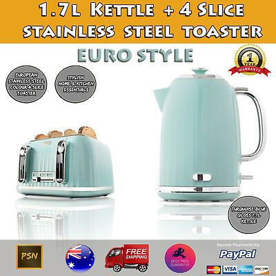 Euro Style 1.7L Kettle and 4 Slice Toaster