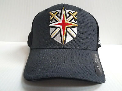 Las Vegas Golden Knights Cap Adidas Black Gray Adjustable NHL Hat