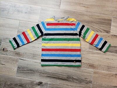 Toddler Boys Size 4T Striped Long Sleeve T-shirt By Baby Gap Multi Color