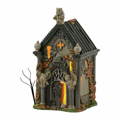 Department 56  Halloween Snow Village Haunted Basement  Miniature house F33