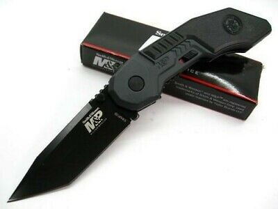 Smith & Wesson S&W Assisted M&P Straight Rescue Glassbreaker Tanto Knife SWMP3B