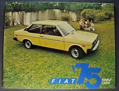 1975 Fiat Catalog Sale Brochure 128 Sedan, Wagon 131 Excellent Original 75