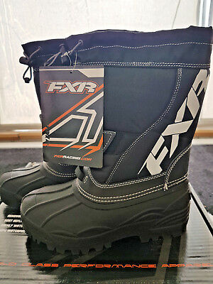Fxr Youth Black Snowmobile Shredder Boots | Snowcross | Snow Boots