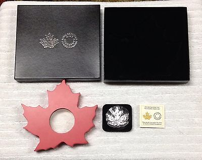 2015 Canada $20 Fine Silver Coin - The Canadian Maple Leaf Shaped Coin
