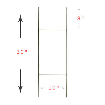 """50 H Wire Step Stakes for Corrugated Yard Sign Holder  10"""" x 30"""""""