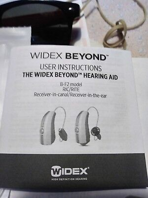 2 (Lt & Rt) x New Widex BEYOND 440 Fusion 2 RIC Hearing Aid for iPhone & Android