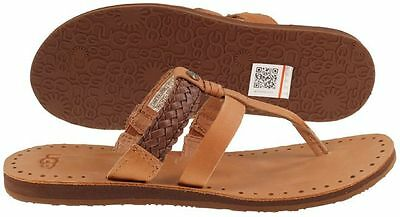 5598fa88bc9 UGG AUSTRALIA AUDRA Chocolate Braided Flip Flop Sandal Women's sizes  5-11/NEW!!!