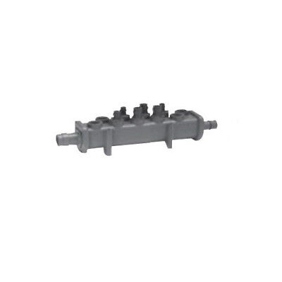 Uponor Q2250600 EP Flow-through Valveless Manifold, 6 Outlets 1 in x 1 in ProPEX