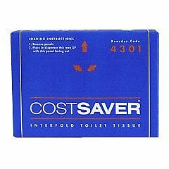 COSTSAVER Interfold Toilet Tissue 72 Packs x 200 Sheets (4301)