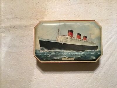 Vintage Bensons Queen Mary English Choice Confections Tin