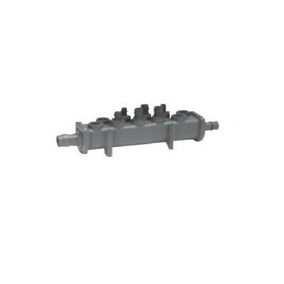 Uponor Q2240600 EP Flow-through Valveless Manifold,6 Outlet,1 in x 3/4 in ProPEX