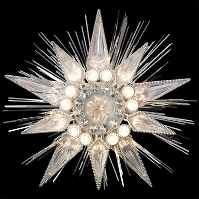"""9"""" GE Holiday Classics Silver Jewel Tree  Topper Christmas Holiday Decoration"""