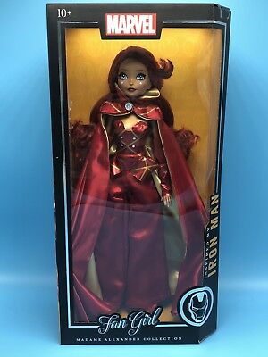 Marvel Madame Alexander Collection Iron Man Fan Girl  New Sealed Free Shipping