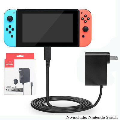 For Nintendo Switch Home Travel Charger Plug Cord AC Adapter Power Supply US/EU