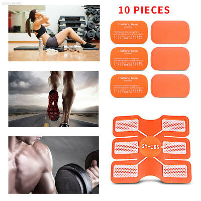 3B92 Silicone 10Pcs Muscle Sheet Pad Sticker Replacement Gear Paster Body