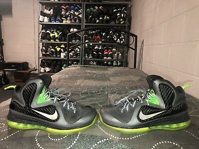 on sale 64621 42e1e Nike LeBron IX 9 Dunkman GS Boys Youth Basketball Shoes Size 6.5Y Gray Green